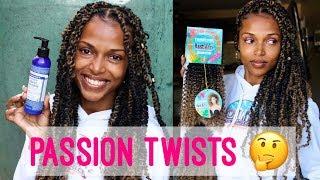Passion Twists featuring: Rastafri Tahiti Curl & Dr. Bronner Organic Hair Creme