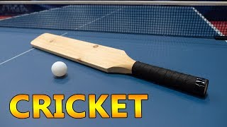 Playing Ping Pong with a Cricket Bat