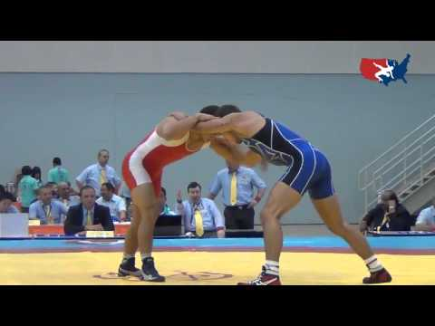 2012 Junior Worlds - 66kg - Destin McCauley (USA) vs. Muzaffar Rizaev (UZB)