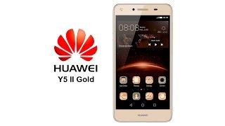 Достаем из коробки Huawei Y5 II Gold, распаковка, комплектация, первое включение