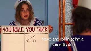 steve and robin being a comedic duo for 7 minutes straight