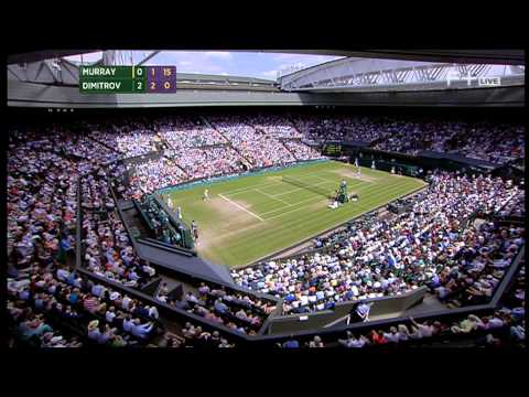 Grigor Dimitrov vs Andy Murray Wimbledon 2014 Quarter-final Part 2