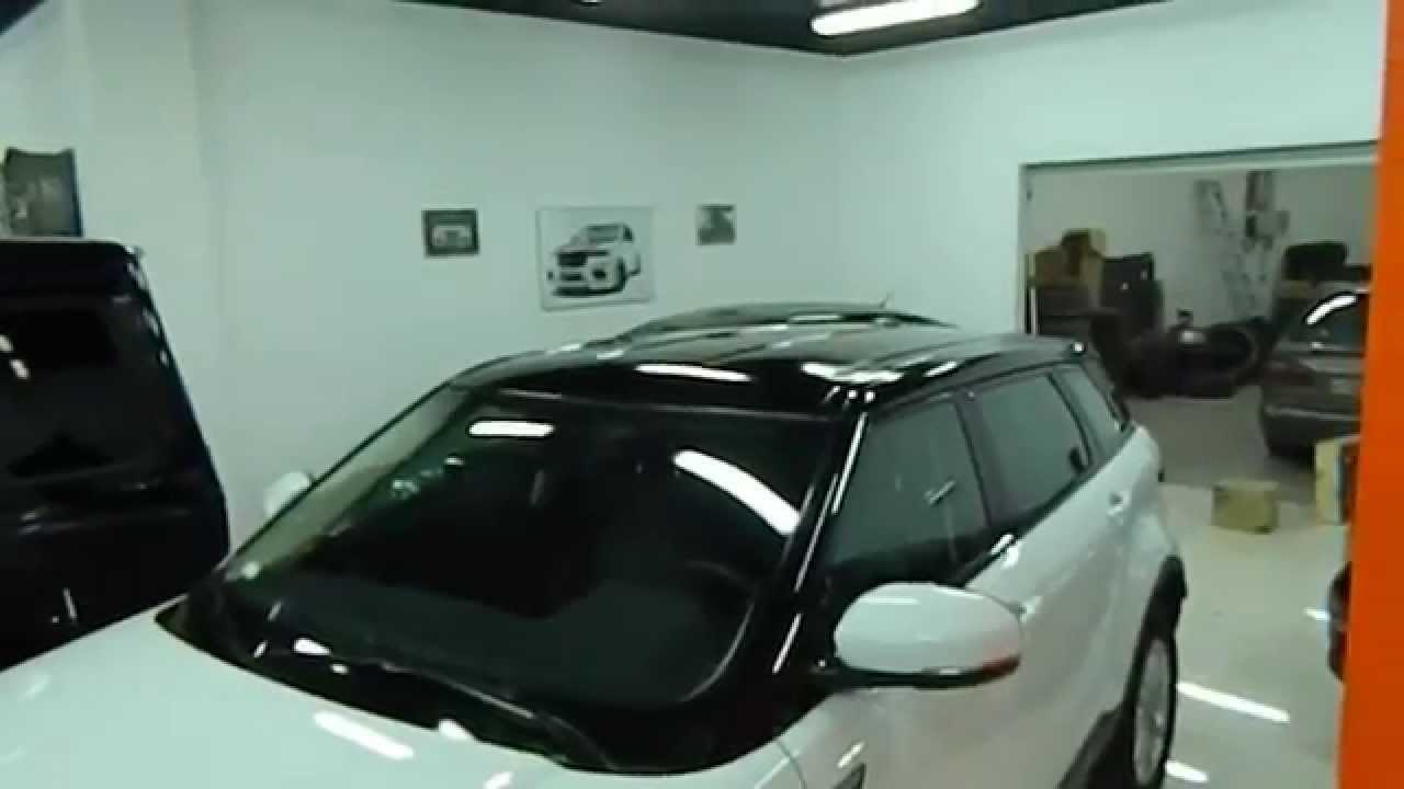 Обтяжка крыши автомобиля пленкой