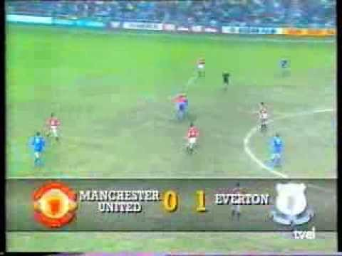 Debut Ryan Giggs con Manchester United vs Everton 1/4