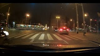 Test Mio MiVue 508 Night driving in Wroclaw