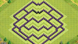 Clash of Clans - TH8 Best New Hybrid Base, 4 Mortars & Effective Traps
