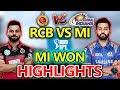 IPL 2018:MI VS RCB Live Match Today,#MIvsRCBLive Cricket Score:MI WON By46 Runs MP3