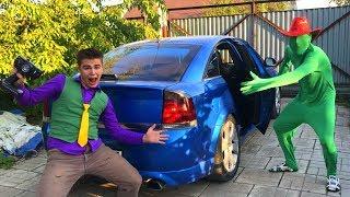 Mr. Joe on Corvette VS Green Man on Opel Vectra OPC VS Chevy Camaro for Kids