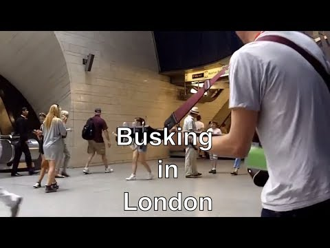 London Underground Busker plays at Southwark Tube (Queen, Bruno Mars, Oasis, Paulo Nutini)