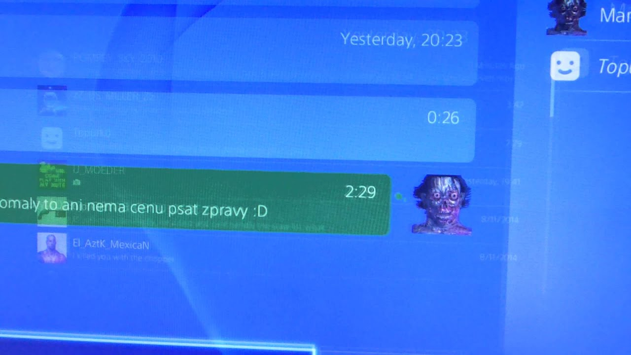how to delete messages on ps4