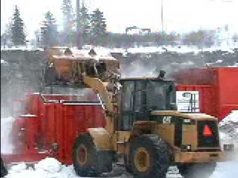Snow Removal Systems - P100 snow melter demonstration