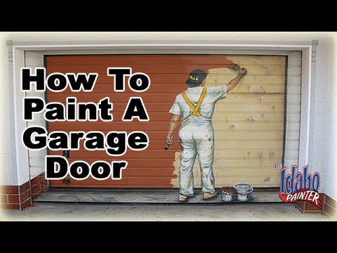 How to prep paint a metal roll up garage door how to for How to spray paint doors