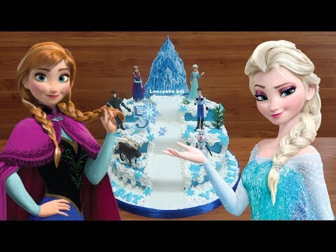 Toys Frozen How to Decorating Birthday Cake Frozen Elsa - How to Make Birthday Cake Frozen Tier