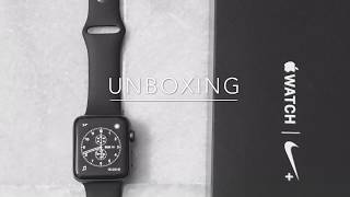 unboxing apple watch series2 42mm nike+