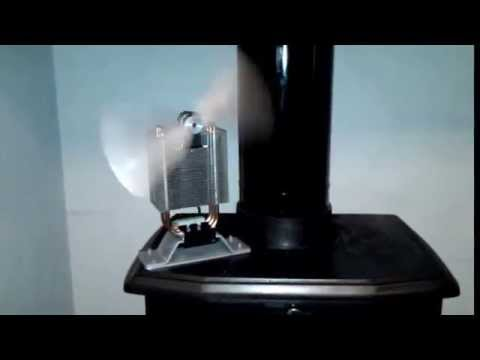Home made diy eco fan thermoelectric peltier power