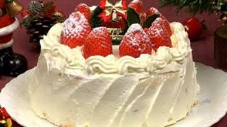 How to Make Christmas Cake (Strawberry Sponge Cake Recipe)   Cooking with Dog
