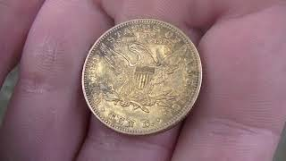 GOLD COIN FOUND IN OLD SWIMMING HOLE