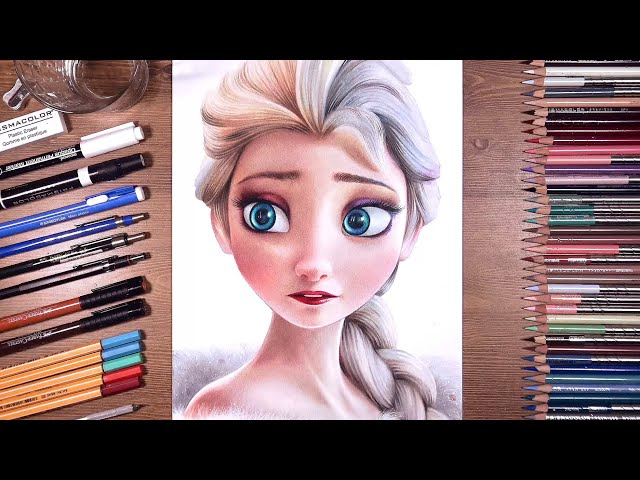 Drawing Frozen - Elsa Snow Queen  drawholic