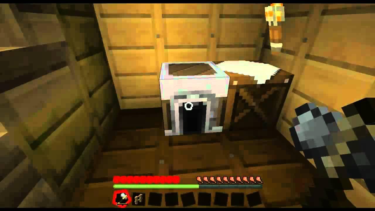 Minecraft hoe maak je een fence gate poortje 024 youtube - Hoe maak je een woonkamer ...