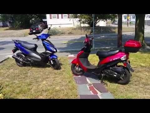 50cc scooter review comparison big vs small