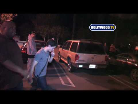 Nick Jonas Leaves PINZ  In Studio City Music Videos