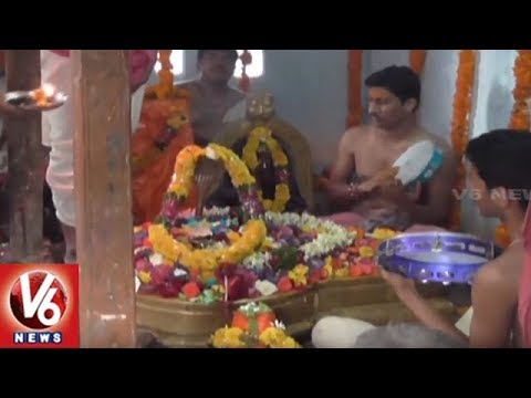 Dharmapuri Temple Priests Perform Abhishekam For Rains In Karimnagar Dist | V6 News
