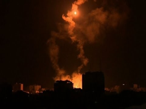 Raw: Massive Explosions From Airstrikes in Gaza