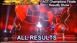 ALL RESULTS Top 5 to Winner  | America's Got Talent Champions Finale Results AGT