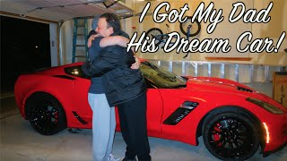 I BOUGHT MY DAD HIS DREAM CAR! - CORVETTE Z06 (2016) Super Car - Reaction Video - Social Experiment