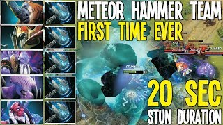 Meteor Hammer Team First Time Ever 20 Sec Stun Funny | Dota 2 Silly Builds