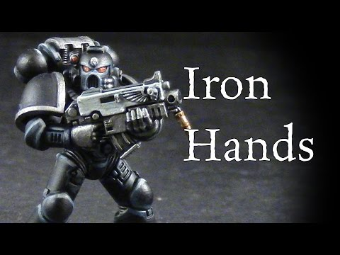 How to paint Iron Hands Space Marines