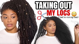 TAKING OUT MY LOCS! (Were They Stuck, Hair Loss?)  | jasmeannnn