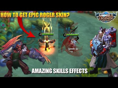 ROGER NEW SKIN Dr Roger-o-Stein Full Gameplay and How To Get This Skin - Mobile Legends