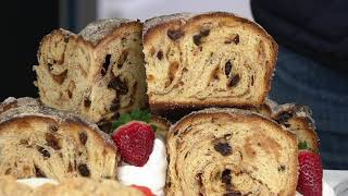 Jimmy the Baker (4) 1-lb Cinnamon Bread Loaves on QVC