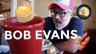 BOB EVANS BREAKFAST MUKBANG EATING SHOW   ON LOCATION!
