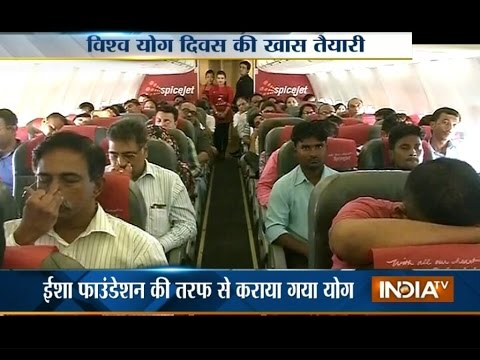Spice Jet flight conducts yoga session for passengers mid air | India Tv