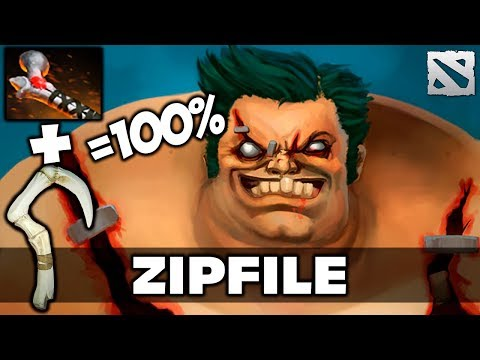 ZIP FILE Pudge [Rod of Atos + Hook Combo] Dota 2