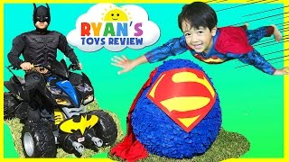 Ryan opens Giant Superman Surprise Egg