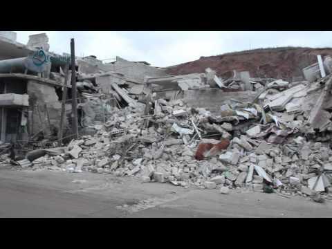 Qasioun News: Aleppo: Bombardment remnants in Tal Refaat city 13-2-2016