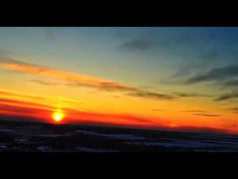 FIRST TIME REAL SUNSET NIBIRU ! CANADA 2016-01-03