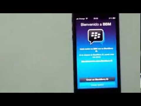 bbm para iphone español ios android