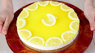 CHEESECAKE AL LIMONE Ricetta Facile Senza Cottura /  No-Bake Lemon Cheesecake easy recipe