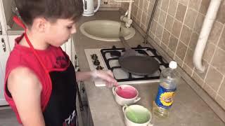 Рецепт цветных блинов за 5 минут. Серия 1