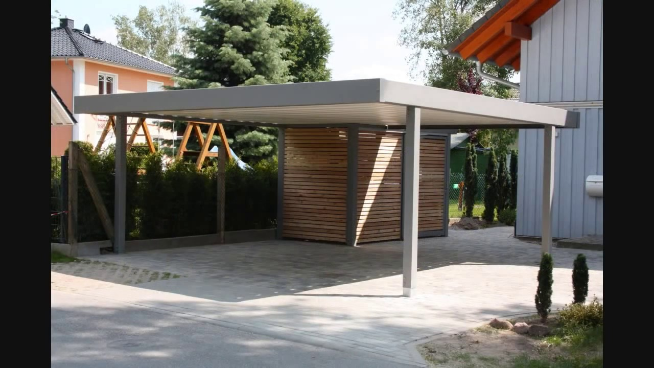 metallcarport stahlcarport carport youtube. Black Bedroom Furniture Sets. Home Design Ideas