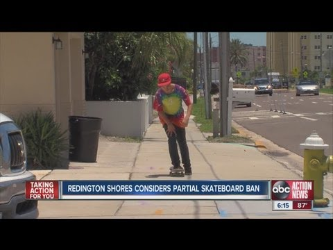 Redington Shores considers partial ban on skateboards