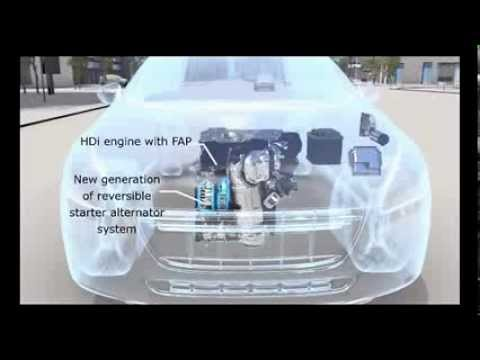 eHDi, the Stop   Start system from PSA Peugeot Citroen   YouTube