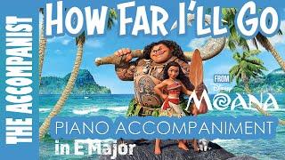 How Far I 39 Ll Go From The Disney Movie 39 Moana 39 Film Version Piano Accompaniment Karaoke