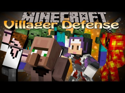 Minecraft Mini-Game Village Defense - Derpy Villagers