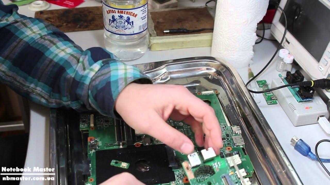 Ремонт залитых ноутбуков своими руками 122