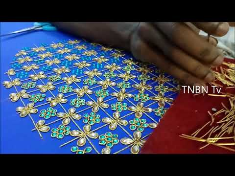 basic embroidery stitches tutorial for beginners | zardosi work tutorial, basic embroidery stitches